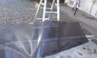 せっかくなので、外した板を洗いました。
